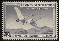 Rw17 1950 Federal Duck F-Vf Unsigned No Gum-No Faults-Ebay Low-Example Stamp