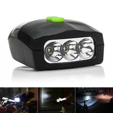 1pc Front Light Electric Horn Bell Speaker 3 LED Bike Bicycle Headlamp Headlight