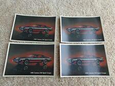 LOT of 4 1980 Chevrolet Camaro Z28 Sport Coupe Postcard ORIGINAL Free Ship