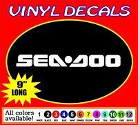 "One Pair SEADOO car Truck JetSki Waverunner PWC window vinyl sticker decal 9"""