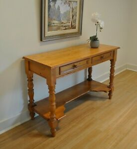 Stylish Country Style Pine Hall Console Side Lamp Sofa Table / Sideboard / Desk