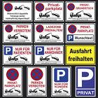Parken verboten Schild Parkverbotsschild Privatparkplatz Parkplatz Schilder <br/> inklusive kostenloses MONTAGEMATERIAL  wetterbeständig