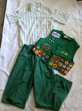 Girl Scout 1973-1994 3-Piece JUNIOR UNIFORM Shirt Pants Vest HALLOWEEN COSTUME