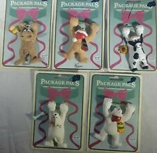 Lot of 5 Package Pals Christmas Birthday Gift Tags-Mouse, Bear, Cow, Dog Snowman