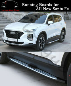 Fits for Hyundai All New Santa Fe 2019 2020 Running Boards Side Step Nerf Bars
