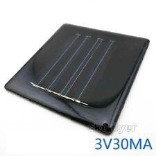Mini Monocrystalline 3V 30mA Solar Panel DIY Hobby Robotic Power Parts Model