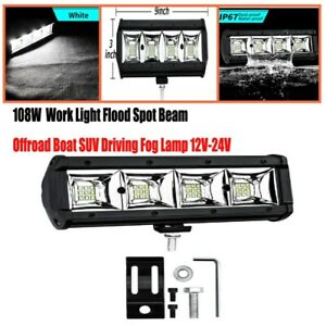 12V-24V 108W 6000K Work Light Flood Spot Beam Offroad Boat SUV Driving Fog Lamp