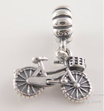 Authentic PANDORA Silver BICYCLE Bike SUMMER Dangle Charm 791266 NEW w POUCH!