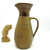 Bendigo Pottery Epsom, Tall Pitcher Jug, 1 Litre 24cm Tall, Initials AD 1976-79