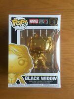 Black Widow (Chrome Gold) Marvel Studios Funko Pop 380 *New with FREE Protector*