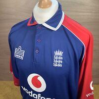 XL 2006 England Admiral ODI Cricket Shirt - VTG Retro Top - Barmy Army Flintoff