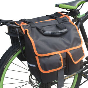 Waterproof Double Bicycle Pannier Bag Travel Shopping Rear Seat Storage Carrier