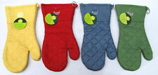 Solid Pattern 100% Cotton Oven Mitts and Potholders