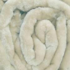 X LARGE Cream Mink FUR Blanket Sofa / Bed Throw 200x240cm
