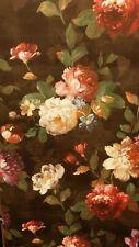 Isabelle Black/Multicoloured Bold Floral, Textured Wallpaper
