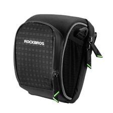 RockBros Cycling Portable Bag Folding Bike Handlebar Seat Bag Waterproof Black