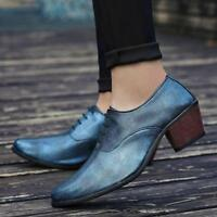 vogue Mens hairdresser Oxfords Lace Up nightclub Round Toe casual deess Shoes