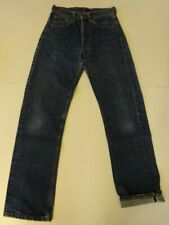 Vtg 60s 70s Levis 505 Redline Selvage Single Stitch Indigo Denim Jeans 28x31 501