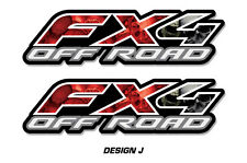 """Fx4 Off Road Truck Bed Decal Set For Ford F150 Raptor Vinyl Stickers 15""""x4"""" SKUL"""