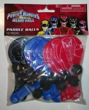 12 piece Power Rangers Megaforce Party Supplies Paddle Ball