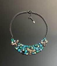 ZARA Rhinestone bib statement necklace