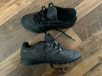ADIDAS Astro Turf Trainers Size UK 2 Goletto Football Boots Moulded BLACK B75916