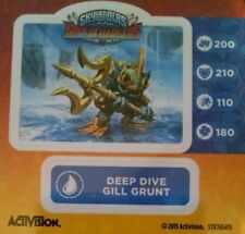 Deep Dive Gill Grunt Skylanders Superchargers Sticker Only!
