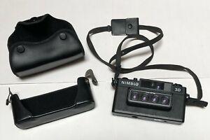 """NIMSLO 3D"" QUADRA-LENS 35mm FILM CAMERA with case EXCELLENT CONDITION"