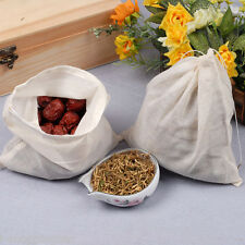 (500) Pack 6x8in Natural Cotton Muslin Drawstring Bags 15x20cm Tea Spice Herb