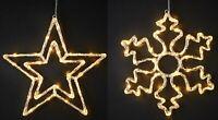 Acrylic Christmas Light Warm White Led Star Snowflake Decoration Xmas