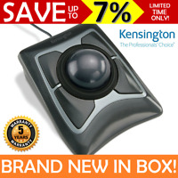 NEW IN BOX KENSINGTON Expert Mouse Wired Trackball Wrist Rest Black Grey 64325