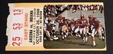 1968 Arizona Vs Indiana Football Ticket Stub Band Day