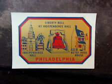 Vintage Original 1950s CDM Liberty Bell Independence Hall Betsy Ross House Decal