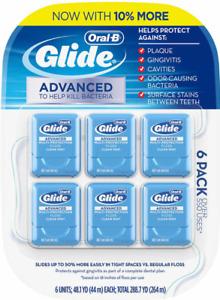 FREE SHIPPING Oral B Glide Advanced Floss 6 pk 264m Oral-B Value Pack