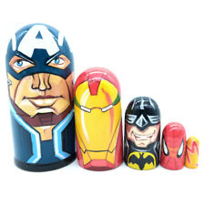 Captain America Iron Man Batman Spider-Man Marvel Comics Matryoshka 5pcs #39