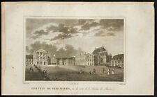 1829 - Incisione Castello di Versailles (Lato avenue)