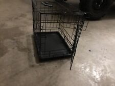 "XSmall Dog Crate Kennel 17""  Folding Pet Cage Animal Metal Door Tray Pan Handle"