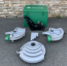 Greenlee 555 Hydraulic Pipe Bender 12 2 Emt Shoes Amp Rollers Nice Shape 3
