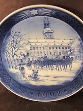 Royal Copenhagen 1992 The Royal Coach Annual Collector Plate