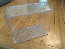 DVD Storage Rack Box Case Shelf Stackable Clear Plastic 14 Standard Case Holder