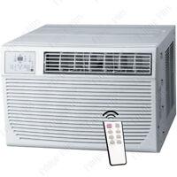 8000 BTU Window AC Unit w/ 3500 BTU Heater, 115V Home Air Conditioner w/ Remote