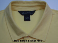 Brooks Brothers Men's XL Short Sleeve Solid Yellow 100% Cotton Polo Shirt 5777