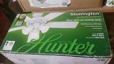 Hunter 52000 Stonington 46 in. Indoor White Ceiling Fan with Light Kit