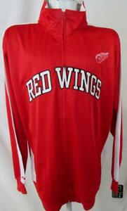 Detroit Red Wings Big Mens 4XL or XLT Embroidered Full Zip Track Jacket ADRW 37