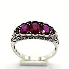 Rubin Silberring  Rubine  925  Silber   Antik Style   # 59