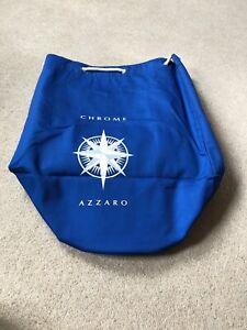 AZZARO DRAWSTRING BAG - BLUE - NEW