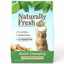 New listing Naturally Fresh Cat Litter - Walnut-Based Quick-Clumping Kitty Litter, Unscented