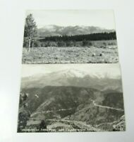Lot Pikes Peak Highway 1940s Bald Mountain Panorama Cascade CO PHOTO POSTCARD