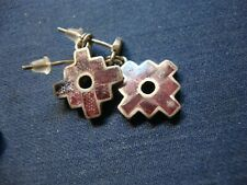 Sterling Silver Earrings Grandmas Estate Rare 950