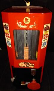 Vintage Select-O-Vend 1c Penny Coin Operated Candy Gum Vending Machine